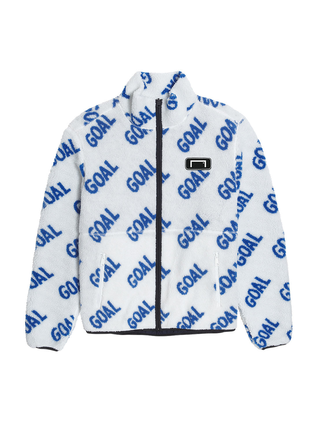 REVERSIBLE FLEECE JACKET - WHITE/NAVY