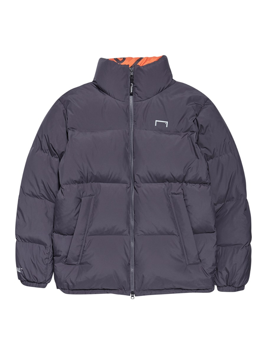 REVERSIBLE DOWN JACKET - GRAY/ORANGE